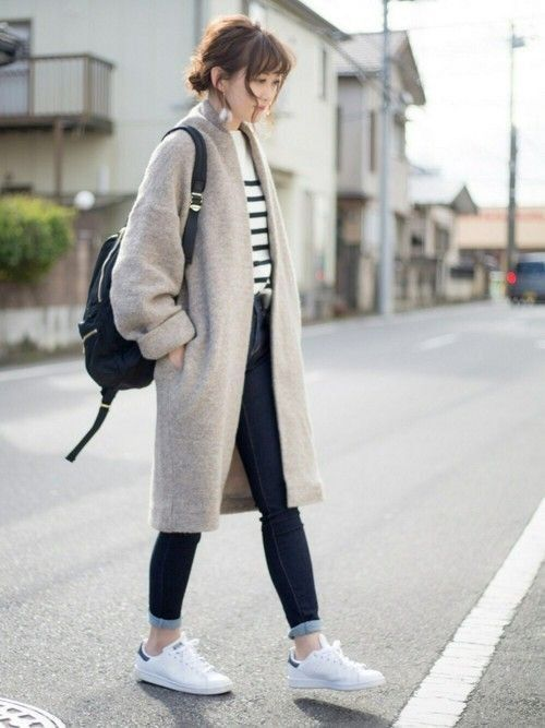 Gaya Pakaian cw Korea Menggunakan mantel