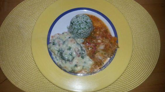 Schlemmer-Filet Blattspinat u Picante mit Kräuter- Reis