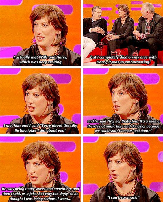 It's OK to get starstruck once in a while. | 18 Times Miranda Hart Spoke The Absolute Truth