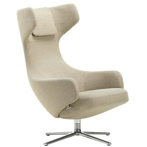 Vitra grand repos lounge chair 5 045 liked on polyvore for Grand repos chair replica