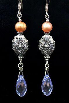 Bali beads w/Swarovski crystals & pearls.