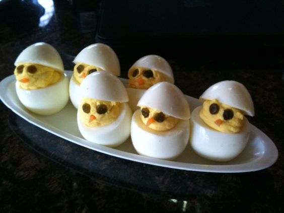 easter deviled egg chicks