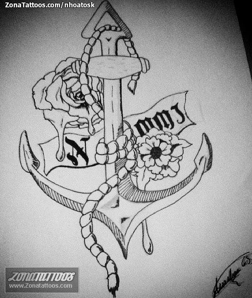 Anclas Plantillas Tattoos