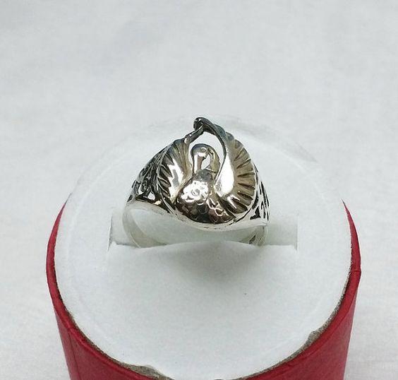 Silberring Ring Schwanenring in 925er Silber 186 von Schmuckbaron