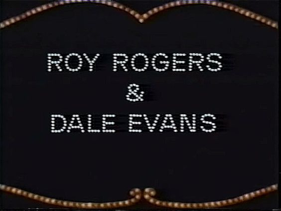 Credit for the hosts, Roy Roger and Dale Evans | Hollywood Palace (January 18, 1969)