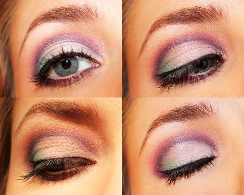 eyeshadow - pink with a touch of mint