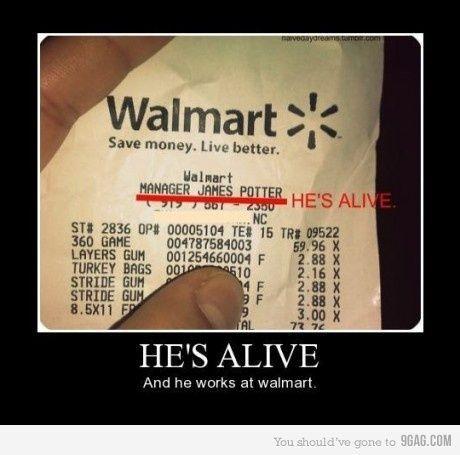He's ALIVE! lol: Work, James Potter, Mischief Managed, Harrypotter, James D'Arcy, At Walmart, Harry Potter, He S Alive