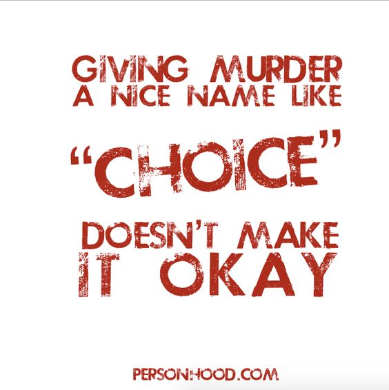 "Make no mistake, the ""choice"" of abortion is murder. http://ift.tt/1FJzmRx"