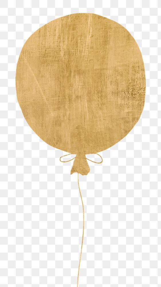 Download Premium Png Of Golden Balloon Sticker Png In Transparent Png Balloons Image Design