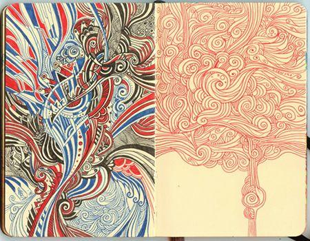 50 Cool Moleskine Art Samples That'll Fuel Your Creativity