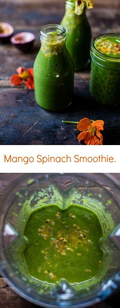 Mango Spinach Smoothie   halfbakedharvest.com @hbharvest