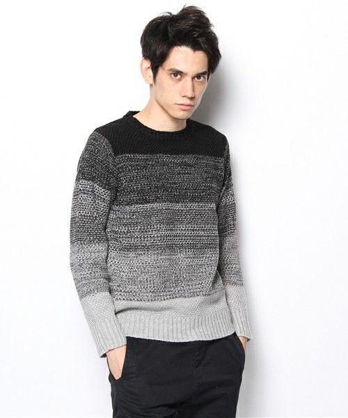 YELLOW RUBY(イエロールビー)の「Gradation Crew Neck Sweater(ニット・セーター)」 - WEAR