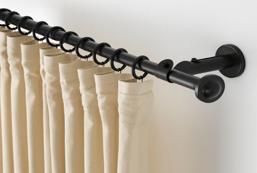 Ikea Curtain Rails Rods Stripedcurtains Drop Cloth Curtains