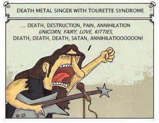 Deathmetal Sanger Mit Tourette Syndrom Dravens Tales From The Crypt Death Metal Last Unicorn