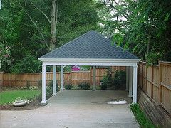 Carport carports pinterest hip roof and all white for Hip roof carport plans