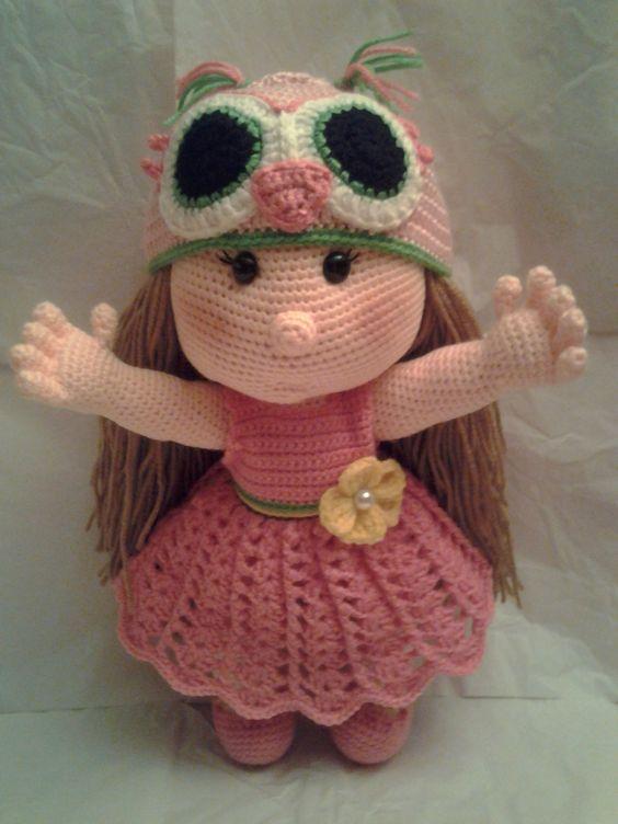 Free Crochet Pattern For Pot Holder Doll : HAVANA - For Sale! Crochet Amigurumi Baby Girl Doll with ...