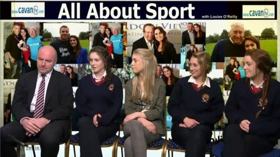 Cavan Intermediate Camogie players and their Manager John Carney were in the Studio to talk to Louise on All About Sport
