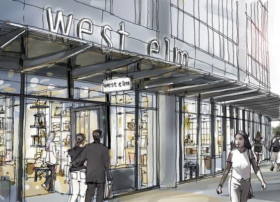 west elm Seattle: Interior Design, Flashy Sign, Retail Visual, Retail Concepts, Bankhead Design, Elm Seattle, Elm Flashy, West Elm
