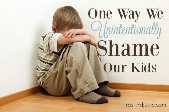 Are you unintentionally shaming your kids by doing this one thing?: