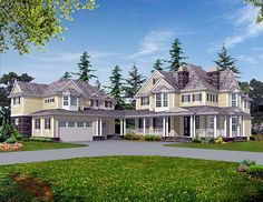 Elevation of Country Farmhouse House Plan 87617