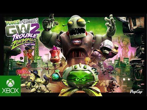 Plants Vs Zombies Garden Warfare 2 Trouble In Zombopolis Trailer Youtube Plant Zombie Zombie Plants Vs Zombies