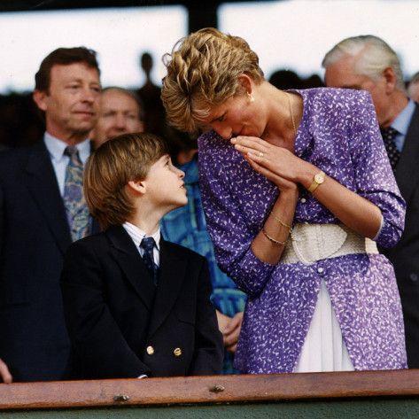 Princess Diana and Prince William at the Wimbledon Ladies Final, 1991