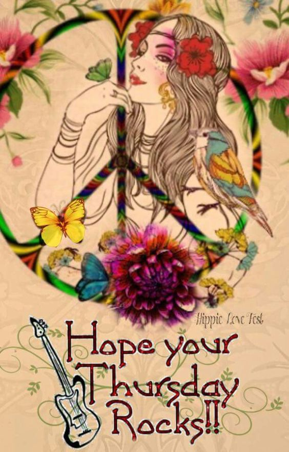 ☮ American Hippie ☮ Happy Hippie Day!  .... Thursday/ Ha ha So Me! Thank You A. hope your Rocking too x :-)