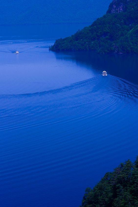 blue lake/towada,japan