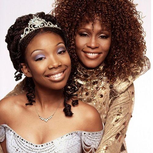 "Brandy Norwood with Whitney Houston, ""Cinderella"", 1997"
