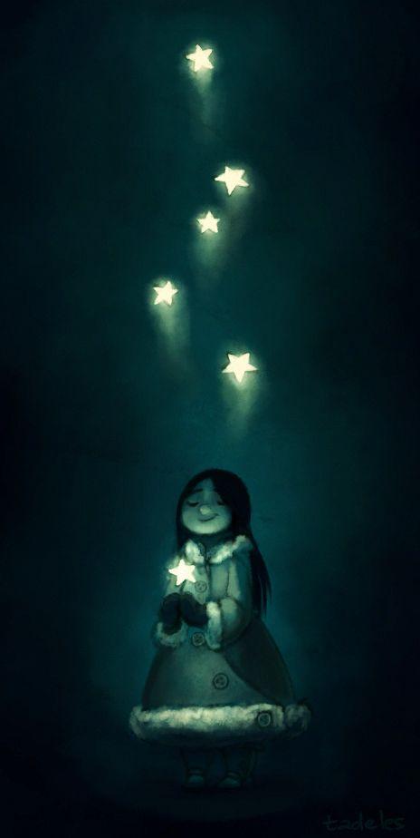 La noche que cayeron las estrellas a mis manos ...