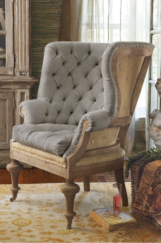 Fontaine Wingback Chair Tufted Wingback Chair Wingback Chair Linen Upholstered Chair Soft Surrou Wingback Chair Deconstructed Chair Wingback Dining Chair