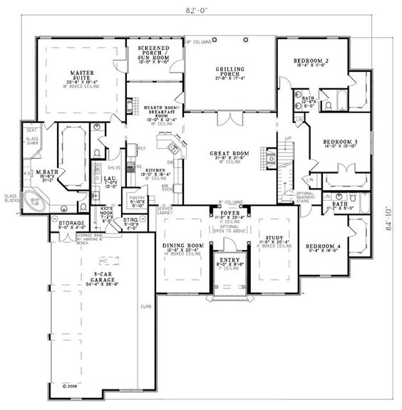 European house plan 82145 house plans guest rooms and for House plans with guest suite