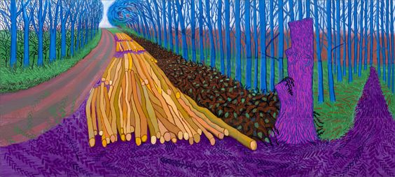 Winter Timber, 2009 Oil on fifteen canvases 274.3 x 609.6 cm (each 91.4 x 121.9 cm) Private collection © David Hockney Photo credit: Jonathan Wilkinson