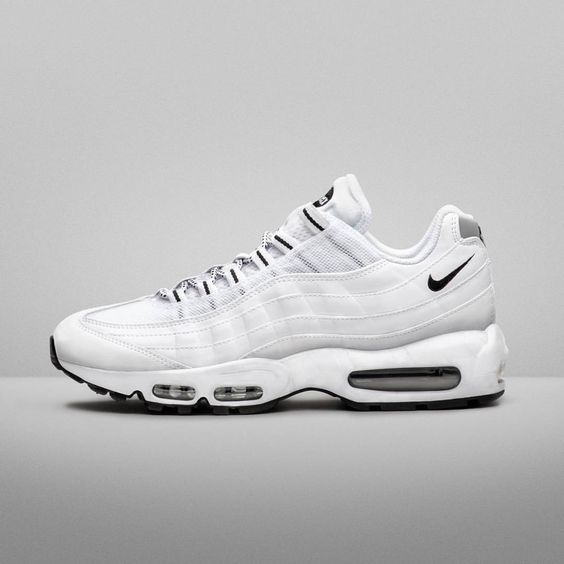 nike air max pas cher soldes - Nike Air Max 95: White/Black | Sneakers: Nike Air Max 95 ...