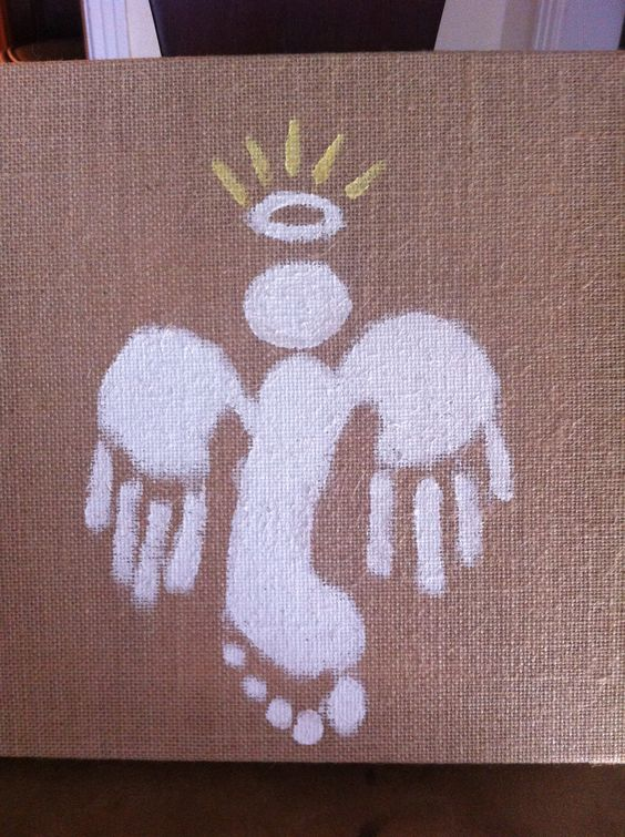 Footprint, Angel and Burlap on Pinterest