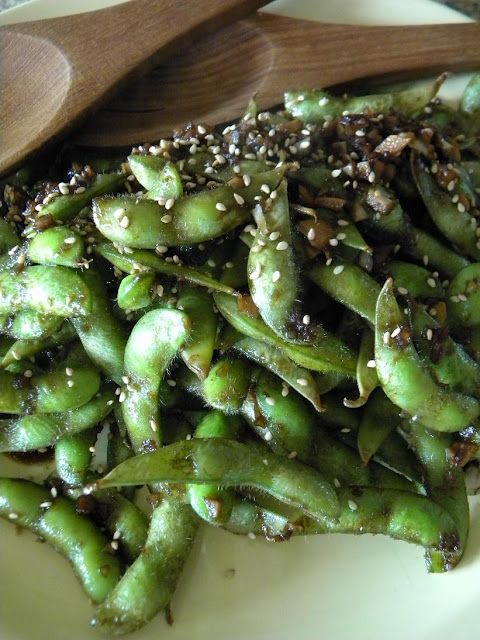soy sauce ginger edamame