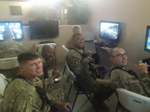 #USOBagramAirBaseAfghanistan   ...... Enjoying a little PlayStation time...‪#‎USOmoments