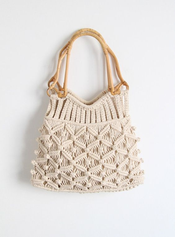 Vintage 1960's Macrame Bag by salvagelife on Etsy