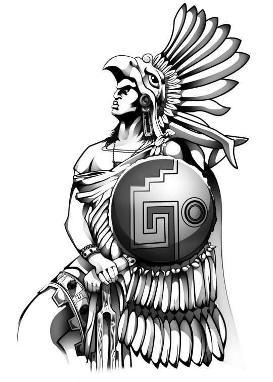 16 Aztec Warrior Sketches Sketch Drawingpencilwiki Com In 2020 Warrior Drawing Aztec Warrior Tattoo Aztec Warrior