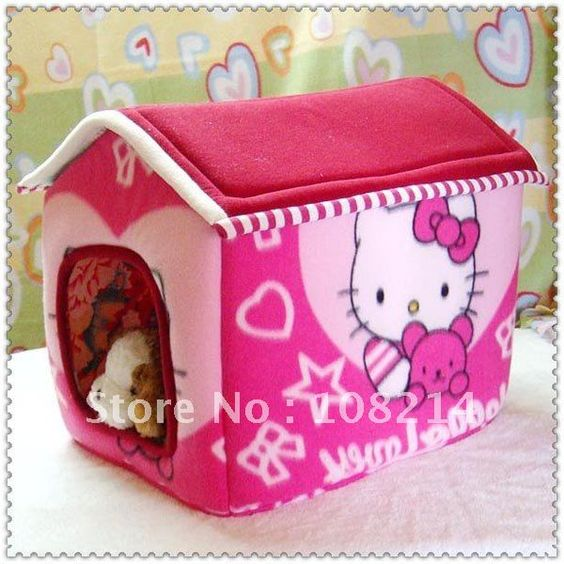 Hello Kitty dog/cat litter cane dog bed removable spire dog on AliExpress.com. $40.00