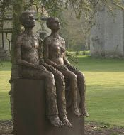 Them by Carol Peace. A life-size outdoor sculpture. Bronze resin and mild steel base Edition of 9  Also available in bronze