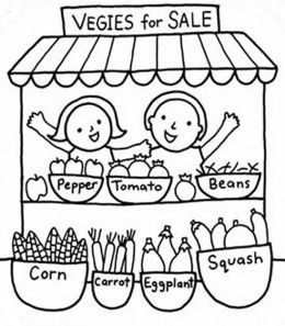 Kids Vegetable Gardens Coloring Pages Free Colouring Pictures To Print