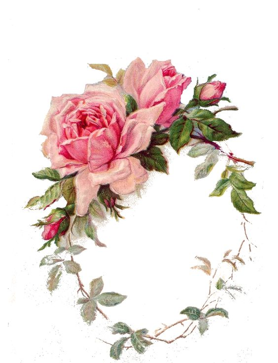 Vintage Rose Frame: