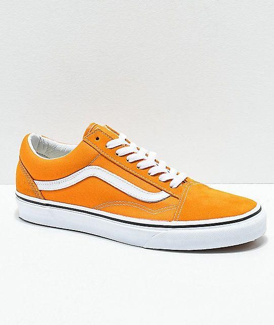 Vans Old Skool Cheddar White Skate Shoes Zumiez In 2020 Custom Vans Shoes Vans Old Skool Leather Shoes Woman