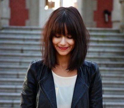 Shoulder-Length Hair For Summer? It's not just about the blunt chop anymore. Let's add the blunt full fringe.