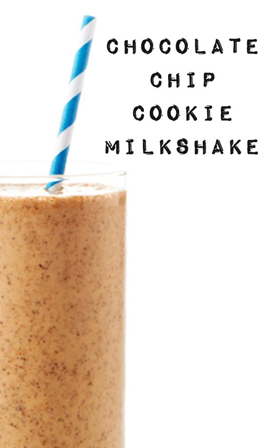 Chocolate Chip Cookie Milkshake | Recipe | Chocolate Chip Cookie ...