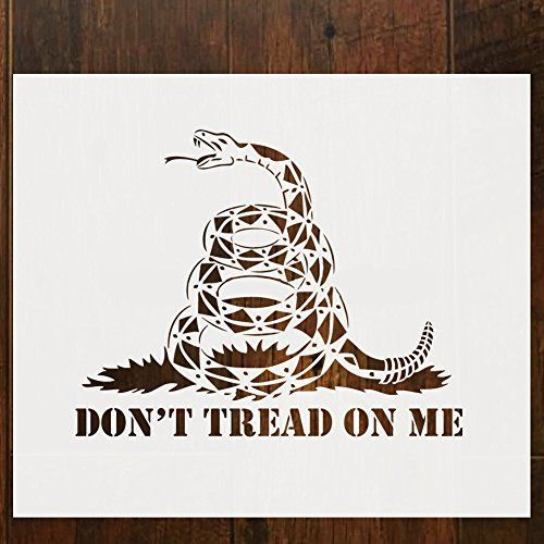 Don T Tread On Me Gadsden Flag Stencil Template For Painting On Wood Walls Fabric Airbrush Reusable 12 X 14 I Painting On Wood Gadsden Flag Stencil Template
