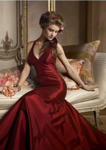 bordeaux, robe de soirée longue