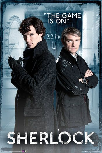 """""""Here's something that has been much requested - an official Sherlock wall poster from GB Posters!"""""""