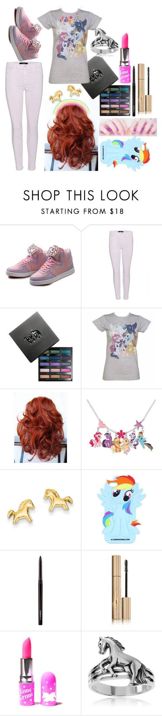 """""""Anya: February 4, 2016"""" by disneyfreaks39 ❤ liked on Polyvore featuring J Brand, Urban Decay, My Little Pony, Kevin Jewelers, MAC Cosmetics, Stila, Lime Crime and Journee Collection"""